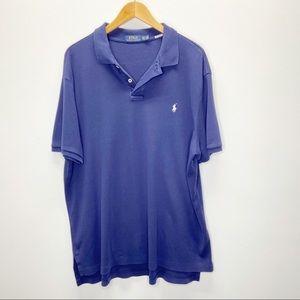 POLO Ralph Lauren Mens Solid Blue Short Sleeve